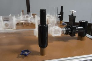 Closeup of the sewer model