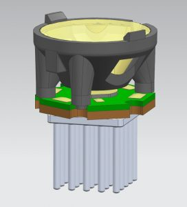 CAD rendering of lens from the side