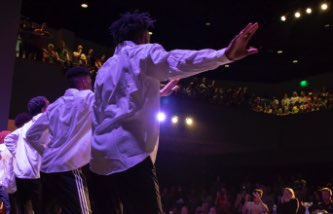Students performing in the Multiflex Theater